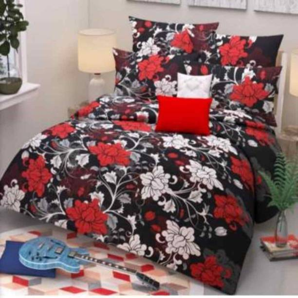 AMIGOS CREATION 100 TC Cotton Double Floral Bedsheet