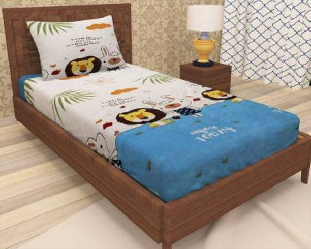 BLUEDOT 144 TC Microfiber Single Printed Bedsheet