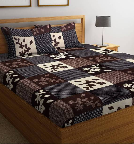 Exopick 144 TC Cotton Double 3D Printed Bedsheet