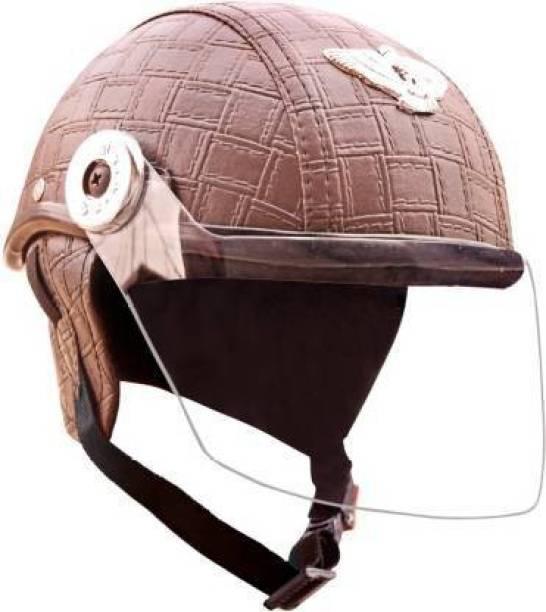 FDS leather CAP Motorbike Helmet