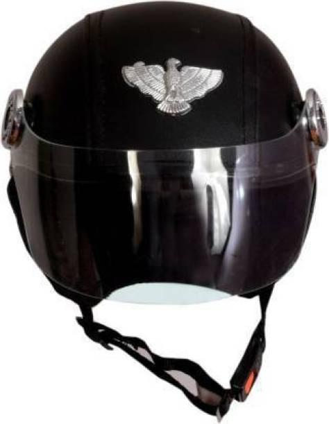 global inc CAP Motorbike Helmet (Black) Motorbike Helmet