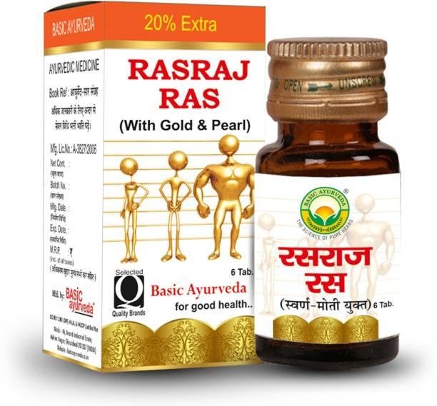 Basic Ayurveda Rasraj Ras With Gold & Pearl