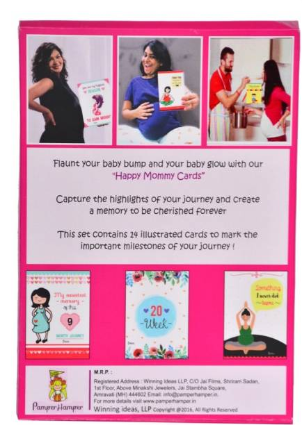 Pamper Hamper Happy Mommy Cards – Pregnancy Milestone & Pregnancy Selfie Greeting Card