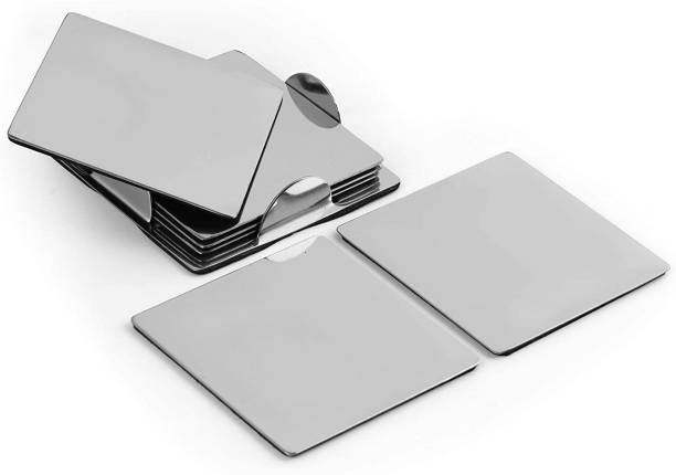 SMS Homeware Square Steel Coaster Set