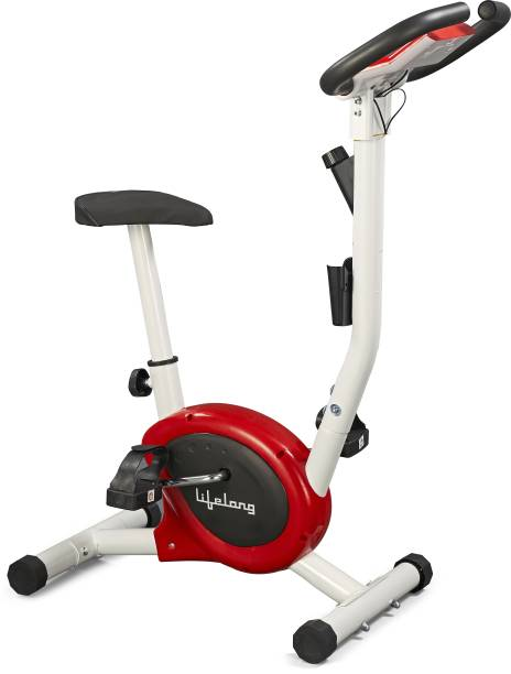 Lifelong LLF108 Fit Pro Exercise Belt Bike Upright Stationary Exercise Bike