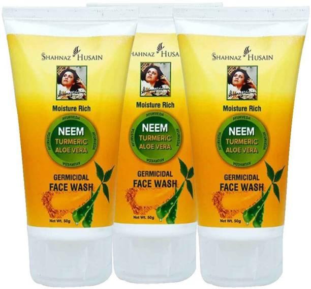 Shahnaz Husain NEEM TURMERIC ALOE VERA GERMICIDAL FACE WASH Face Wash