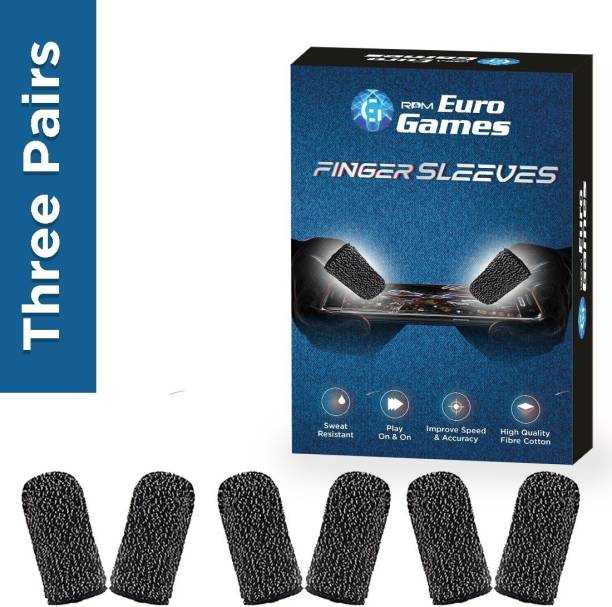 RPM Euro Games Finger Sleeve For Gaming Pubg Mobile Gaming Thumb Finger Pack Of 6, 3 Pairs  Gaming Accessory Kit