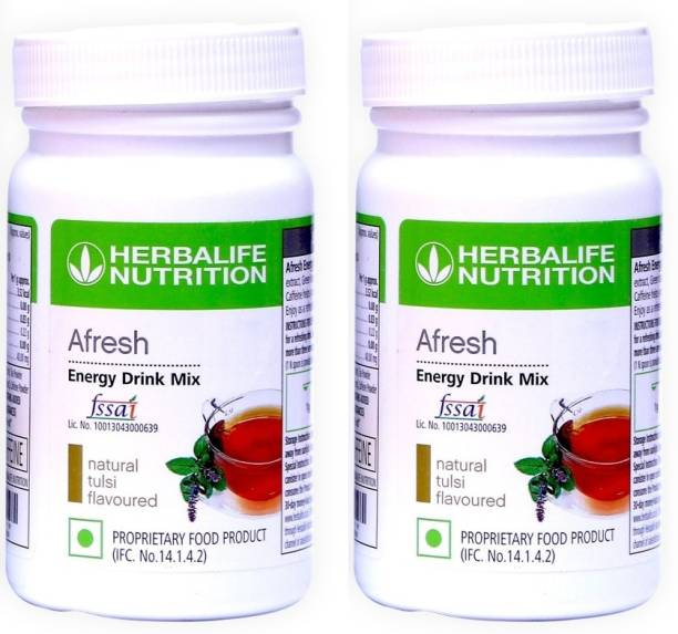 HERBALIFE Afresh Energy Drink Mix - Tulsi Flavor Combo Pack Of 2 ( A Refreshing Bevrage) Energy Drink