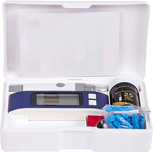 Pristyn care Sugar Testing Machine | Glucometer Kit | Glucose meter | Automatic Glucose Sugar testing Monitor | Diabetes Testing Machine | Blood Glucose | Sugar Testing Machine | Diabetes Checking Machine | Glucometer | Digital Glucometer | Blood Sugar testing Machine | With 25 Blood Glucose Test Strips (Blue/White) Glucometer