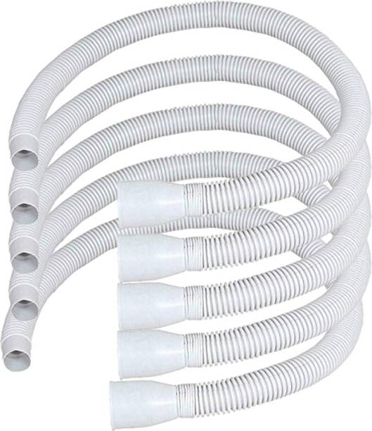 RENVOX Long PVC Socket Waste Drain Pipe for Wash Basin/Kitchen waste pipe Pack of 5 PVC Wash Basin & Kitchen Sink PVC Waste Pipe (Pack of 5) Hose Pipe