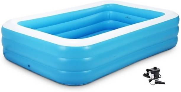 HK ENTERPRISES OFFICIAL Inflatable Bath Tubs for Kids and Adults BPA-Free Swimming Tub with Electric Pump 8.5 Feet Inflatable Swimming Pool