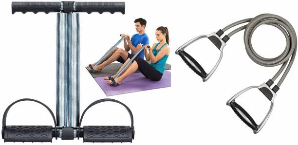 GJSHOP General ab exerciser workout tummy trimmer with toning tube home, gym fitness combo kit Gym & Fitness Kit