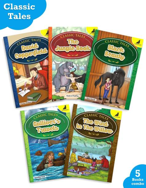 Story Books In English For Kids | Abridged Classics | Age 8 - 16 Years | Bedtime Stories With Pictures | Classic Tales | Questions For Better Understanding | Set Of 5 Books