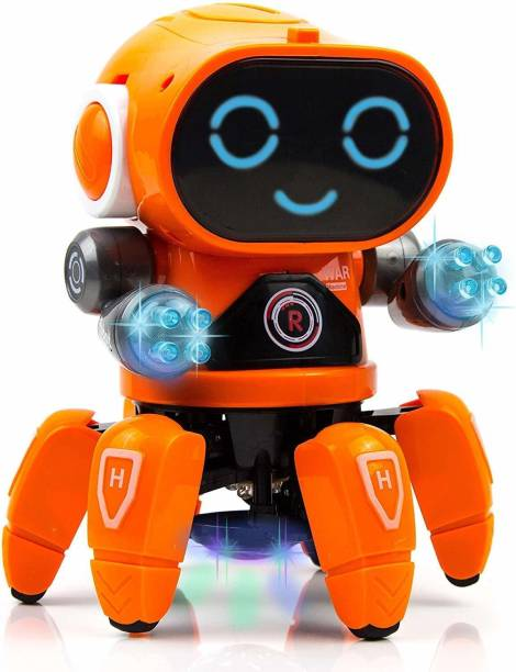 Smartcraft Pioneer Robot Colorful Lights and Music, All Direction Movement, Dancing Robot Toys for Boys and Girls - Multi Color