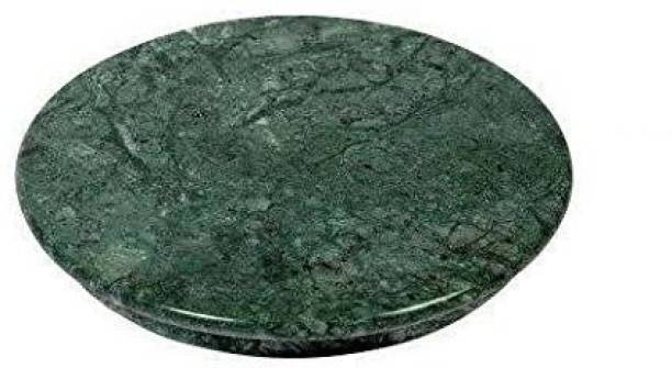 Shri Marble Chakla or Granite Roti Maker or Rolling Pin Board or Handmade Round Board, Cheese Platter Board