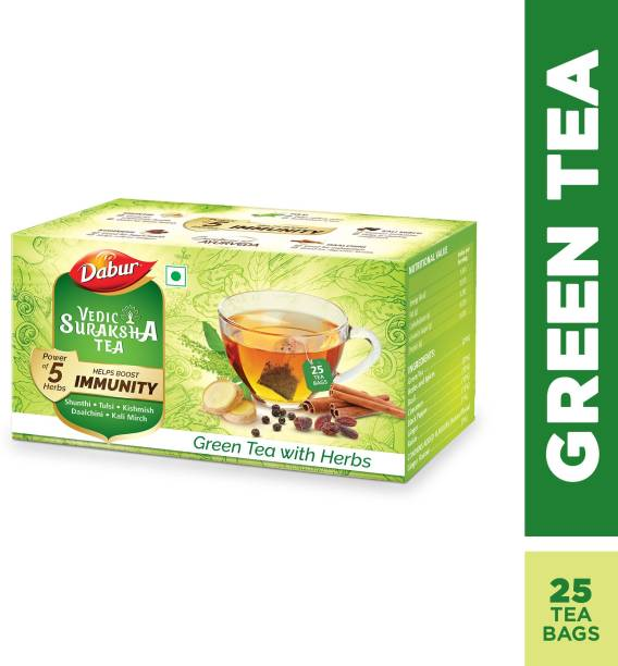 Dabur Vedic Suraksha Green Tea Bags Box