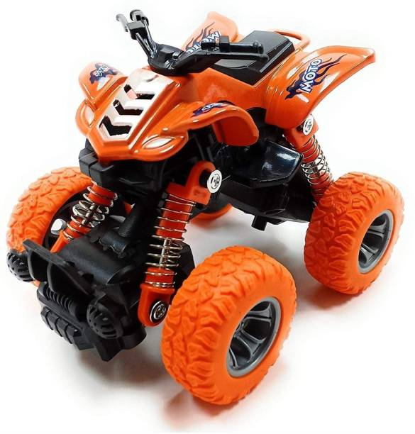 Neel Mini Monster Truck, Pull Back Mechanism with Rubber Tyre and Jumper, Mini Rock Crawler Vehicle