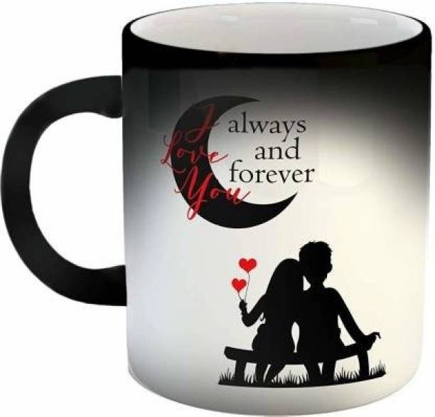 """V Kraft """"i love you always and forever magic mug """" quote Ceramic magic with Handle-Perfect Gift to Anyone On Any Occasion 
