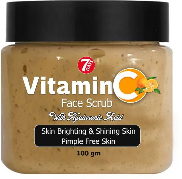 7 Days Vitamin C Face Scrub Tan Removal Repair Damage Caused By Sun Acne And Pimples Free Skin Anti ageing  Scrub