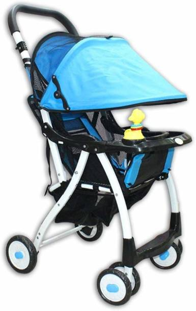 Little Kids Stroller Rotating Wheels and Adjustable Seat Pram Pram