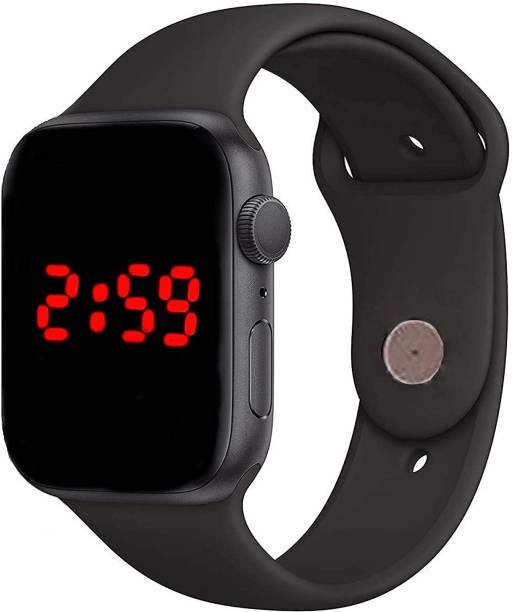 JJSONS NJXW-5640 Black Rubber Strap Apple LED Square Dial Digital Watch Digital Watch - For Boys & Girls Digital Watch  - For Boys & Girls