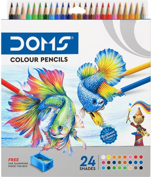 DOMS FSC 24 Shades Round Shaped Color Pencils