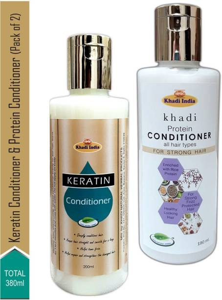 khadi natural herbal Keratin Conditioner & Protein Conditioner (Pack of 2)