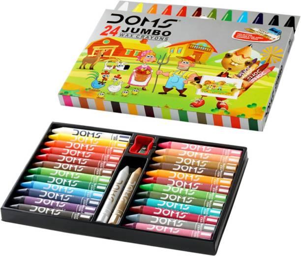 DOMS Tri Jumbo Wax Crayons 24+2 Shades