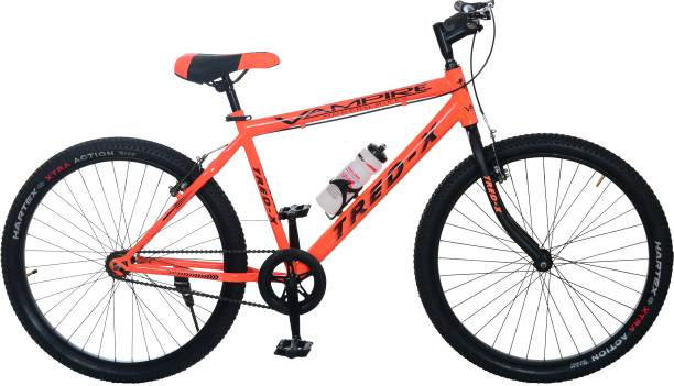 Vampire Tred-X Steel Mountain Bike/Cycle , 26 inches Single Speed ( Orange) 26 T Mountain Cycle