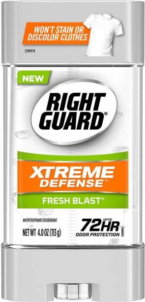 RIGHT GUARD Xtreme Defense Fresh Blast Antiperspirant MADE IN USA Deodorant Gel  -  For Men