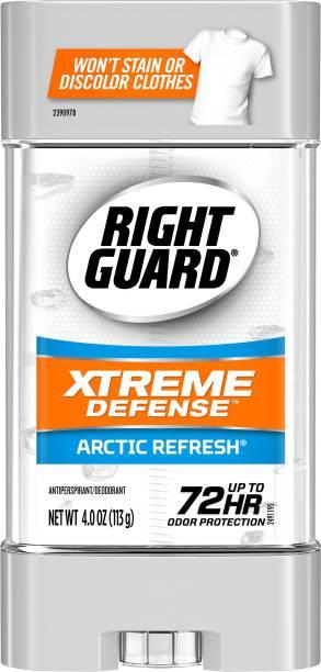 RIGHT GUARD Xtreme Defense Antiperspirant Deodorant Gel, Arctic Refresh MADE IN USA Deodorant Gel  -  For Men