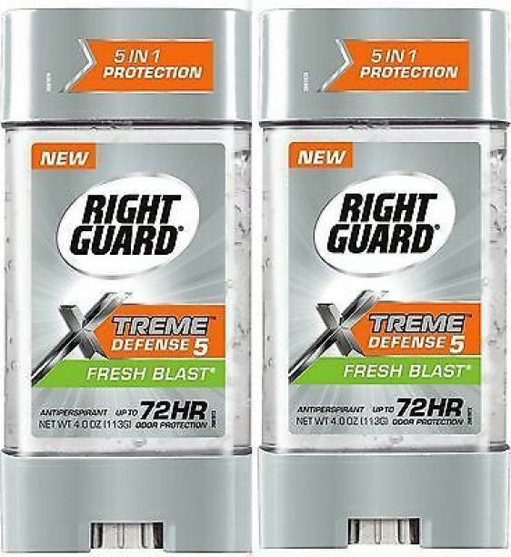 RIGHT GUARD XTREME Defense ANTIPERSPERENT DEO SRICK FRESH BLAST Pack of 2 MADE IN USA Deodorant Gel  -  For Men