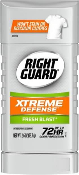 RIGHT GUARD Anti-perspirant & Deodorant Invisible Solid, Fresh Blast MADE IN USA Deodorant Stick  -  For Men