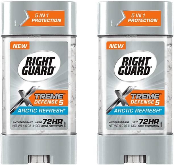 RIGHT GUARD Xtreme Defense Antiperspirant Deodorant Gel, Arctic Refresh PACK OF 2 Deodorant Gel  -  For Men