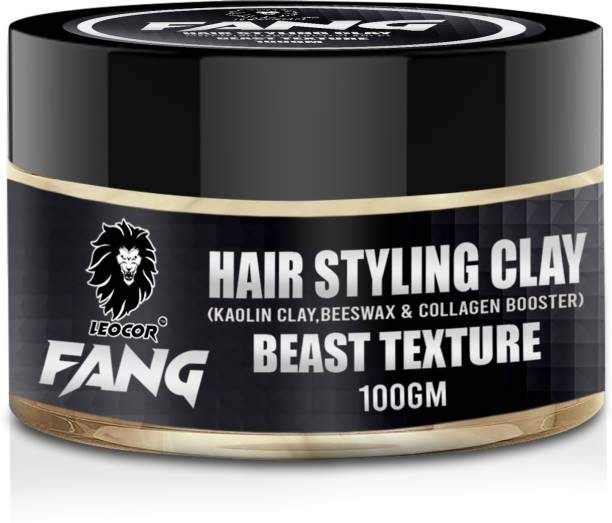 leocor Fang Hair Styling Clay Hair Wax | Strong hold & Texture | Natural & Safe | 100gm Hair Clay
