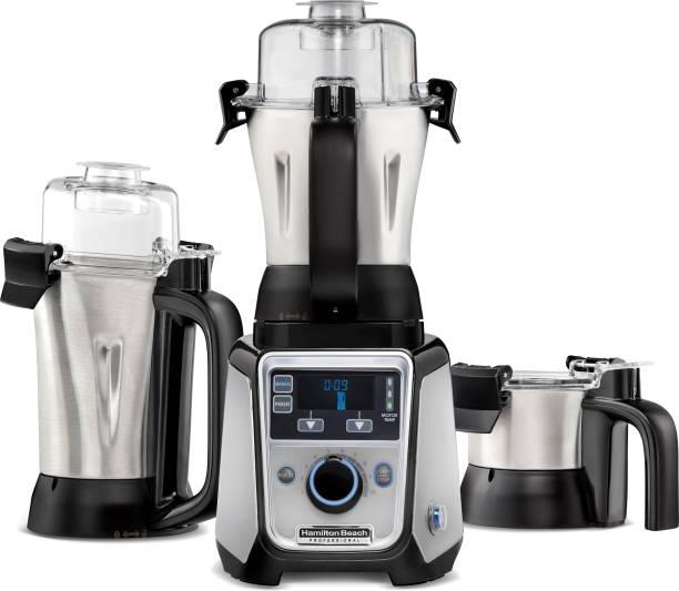 Hamilton Beach Professional 58770-IN 1400 W Mixer Grinder (3 Jars, Silver, Black)