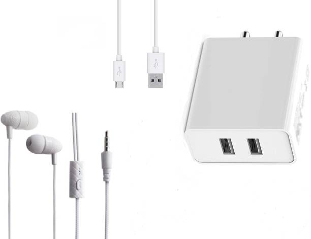 Badger Wall Charger Accessory Combo for Infinix Hot 9 Pro, Infinix Hot 10, Infinix S5 Pro, Infinix Hot 8, Infinix Smart 4 Plus Original Adapter Like Wall Charger, Mobile Power Adapter, Fast Charger, Android Smartphone Charger, Battery Charger, High Speed Travel Charger With 1 Meter Micro USB Cable Charging Cable Data Cable