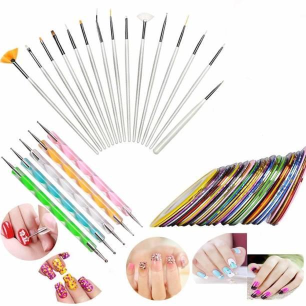 DALUCI 30pcs Nail Art Design Dotting Painting Drawing UV Polish Brush Pen Tools Set Kit