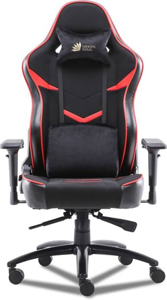 GREEN SOUL Monster Ultimate (S) Multi-Functional Ergonomic Gaming Chair (GS-734US) (Black & Red) (Large Size) Fabric Office Executive Chair