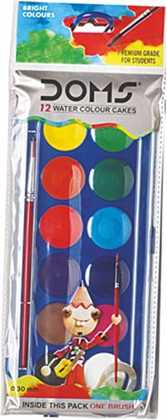 DOMS Watercolour Cakes 12 Shades (30 mm)