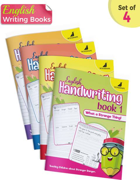 English Handwriting Practice | Normal Font | English Writing Books | Story Writing For Kids | Develop Social Awareness Skills In Children | Activities - Join The Dots, Line Tracing, Maze | Set Of 4