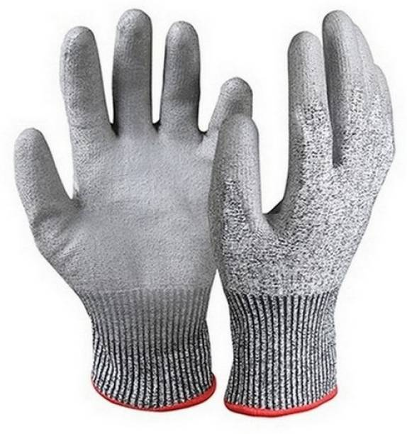 RBGIIT Non Cutting Rubber Cotted Hand Nylon Cut Restitance Chemical Protective Washable Reusable Hand Gloves Indrustrial Wooden Factory Worker Transport Contruction Gloves RBHVNG174 Nylon  Safety Gloves