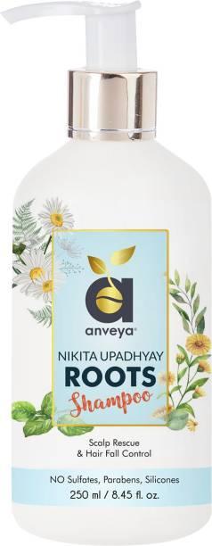 Anveya Roots Shampoo, 250ml, for Hair Fall Control & Scalp Rescue. Co-creator Nikita Upadhyay