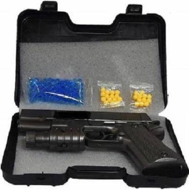 Shopjamke 2 in 1 Water Bullet Gun with Water Ball & 6 mm BB Bullets Guns & Darts (Black) Guns & Darts