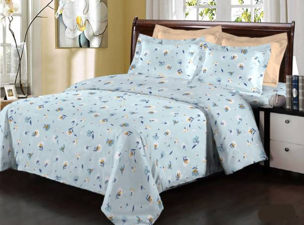 Bombay Dyeing 180 TC Cotton Double Floral Bedsheet