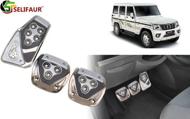 Selifaur P4S170 - 3 Pcs Silver Non-Slip Manual Car Pedals kit Pad Covers Set Car Pedal