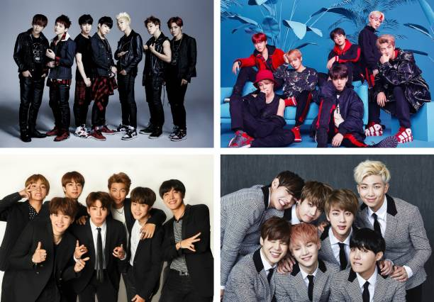 Pack of 4 BTS Music Band Posters | for BTS lovers | HD Poster for Wall decor Photographic Paper