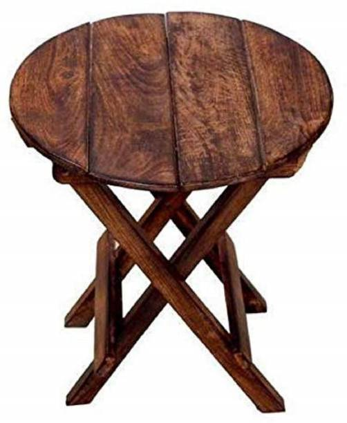 SZHC Beautiful Wooden Folding Side Table Solid Wood Side Table