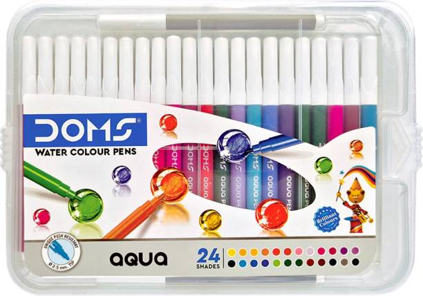 DOMS Aqua Watercolor Soft Tip Nib Sketch Pens