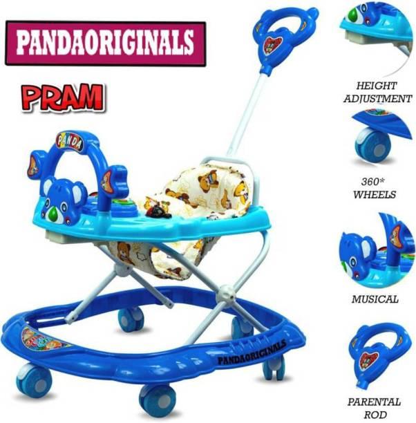Pandaoriginals 555 with parent rod Pram